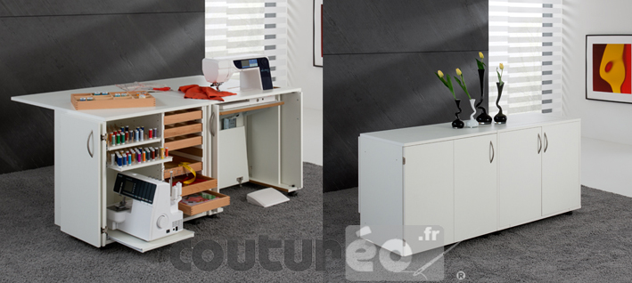 meuble n 40 de rangement fils et machine rauschenberger coutureo. Black Bedroom Furniture Sets. Home Design Ideas