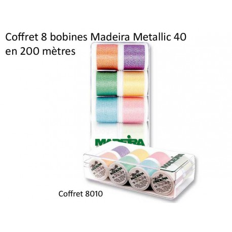 "Maderia Metallic  - Coffret ""opal"" assortiment 8 bobines 200 m"