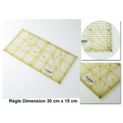 Règle universelle avec angles Sewmate patchwork 30 cm