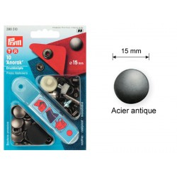 """Pressions boutons """"ANORAK"""" 15 mm"""