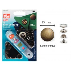 "Pressions boutons ""sport et camping"" 15 mm"