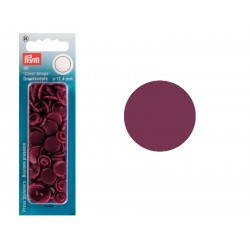 Boutons Pression Colors Snaps Prym 12,4 mm Rouge Vineux