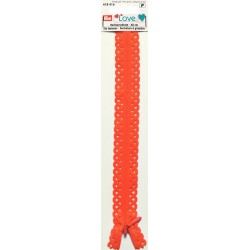 Fermeture décorative PRYM 40 cm col Orange