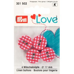 Prym Love- Collection Coeur - Rouge et Rose