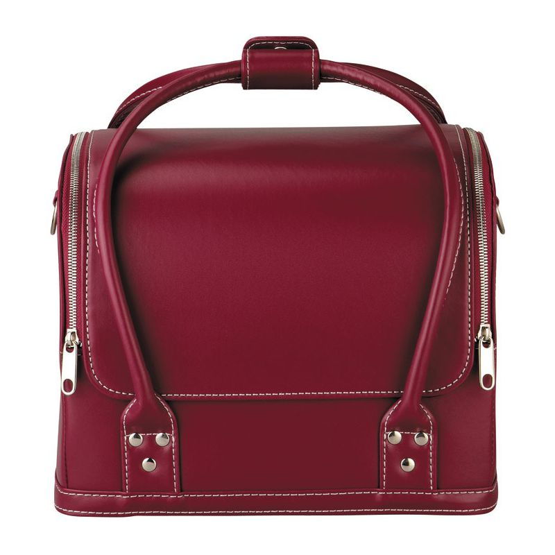 Valisette taille l prym aspect cuir rouge coutureo for Sac rangement couture