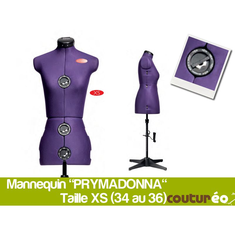 mannequin de couture prym prymadonna taille xs. Black Bedroom Furniture Sets. Home Design Ideas