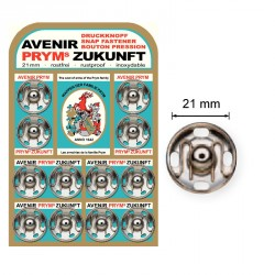 Pressions boutons 21 mm PRYM argent