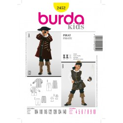 Patron BURDA 2452 T 104 à 140 cm : déguisement  Pirate