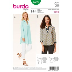 Patron BURDA 6633 T 36 à 46 : Tunique