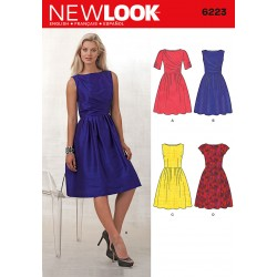 Patron NEW LOOK 6223 T 36 à 46 : Robe