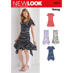 Patron NEW LOOK 6371 T 38 à 50 : Robe