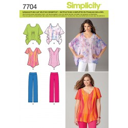 Patron SIMPLICITY 7704.A : Ensemble blouse large pantalon