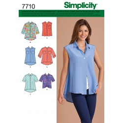 Patron SIMPLICITY 7710.A : Chemisier ample