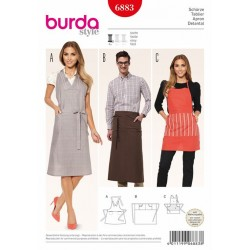Patron BURDA 6883 : Tablier
