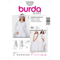 Patron BURDA 9761 T 128 à 164 cm : Robes de communion