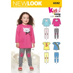 Patron NEW LOOK 6332 T 6 m à 4 ans : Pyjama fillette