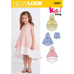 Patron NEW LOOK 6387 T 3 à 8 ans : Robe fillette