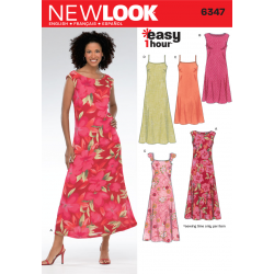 Patron NEW LOOK 6347 T 38 à 50 : Robe