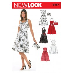 Patron NEW LOOK 6457 T 34 à 44 : Robe
