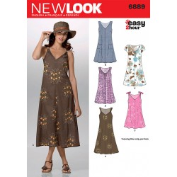 Patron NEW LOOK 6889 T 36 à 46 : Robe
