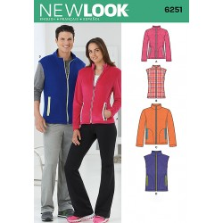 Patron NEW LOOK 6251 T XS-XL : Gilet