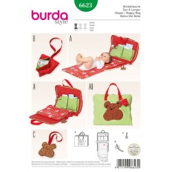 Patron BURDA 6623 T  unique : Sac à langer
