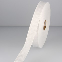 Sangle 23 mm COTON blanche