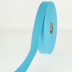 Sangle 23 mm COTON turquoise