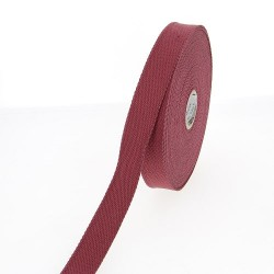 Sangle 23 mm COTON bordeaux