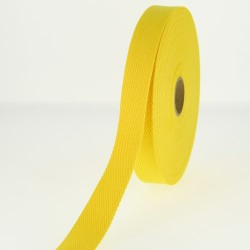 Sangle 23 mm COTON jaune