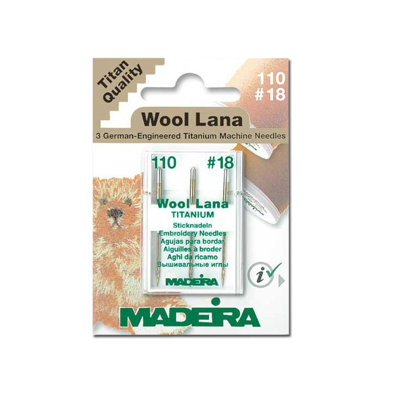 Aiguilles madeira machine coudre wool lana en 110 coutureo - Aiguille machine a coudre ...