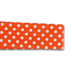 Ruban petits pois 20 mm Orange