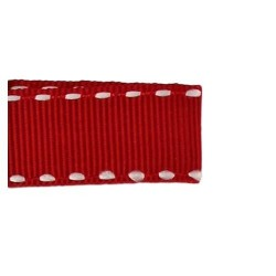 Ruban gros grain ourlet 10 mm Rouge