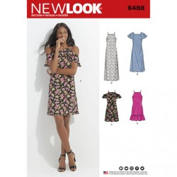 Patron NEW LOOK NL6488 T 38 à 50 : Robe
