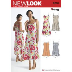 Patron NEW LOOK NL6510 T 34 – 46 : Robe longue