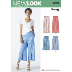 Patron NEW LOOK NL6515 T 36 – 48 : Pantalon