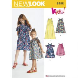 Patron NEW LOOK NL6522 T 3 à 14 ans : Robe