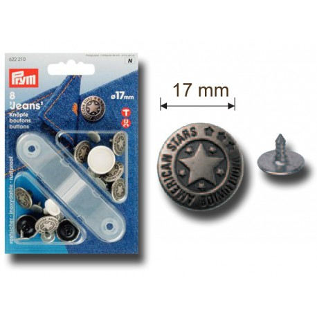 Pressions boutons jean American star 17 mm