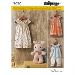 Patron SIMPLICITY S7979.A T 1/2 - 4 ans : Robe