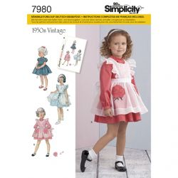 Patron SIMPLICITY S7980.A T 1/2 - 4 ans : Robe
