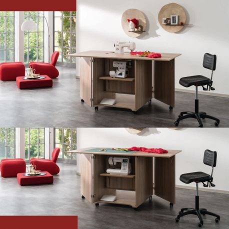 meuble machine coudre craft double coutur o. Black Bedroom Furniture Sets. Home Design Ideas