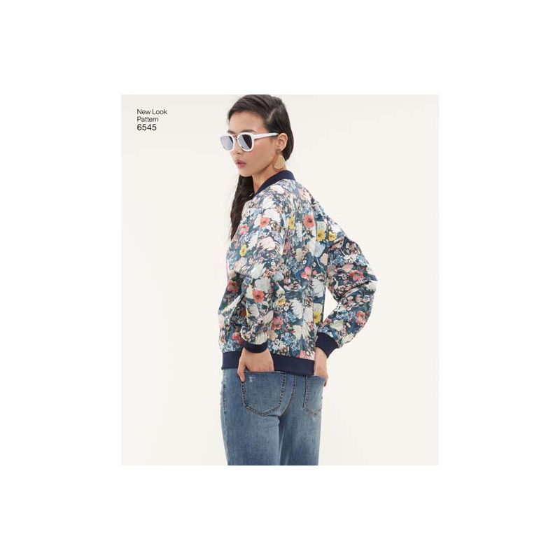c30906297bb0c Patron New Look 6545 Veste bomber - Taille 34 à 46 - Coutureo