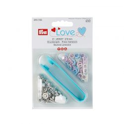 Boutons pression PRYM LOVE Jersey laiton 8 mm multi pastels