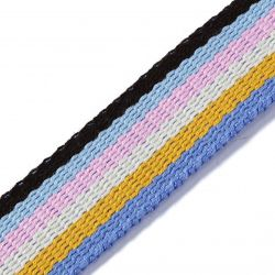 Sangle POLYESTER 30 mm Bleu / multicolore 3 m