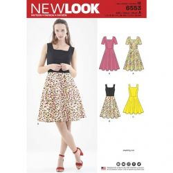 Patron New Look 6553 Robe  - Taille : 34 à 46