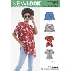 Patron New Look 6555 Blouse  - Taille : 34 à 52