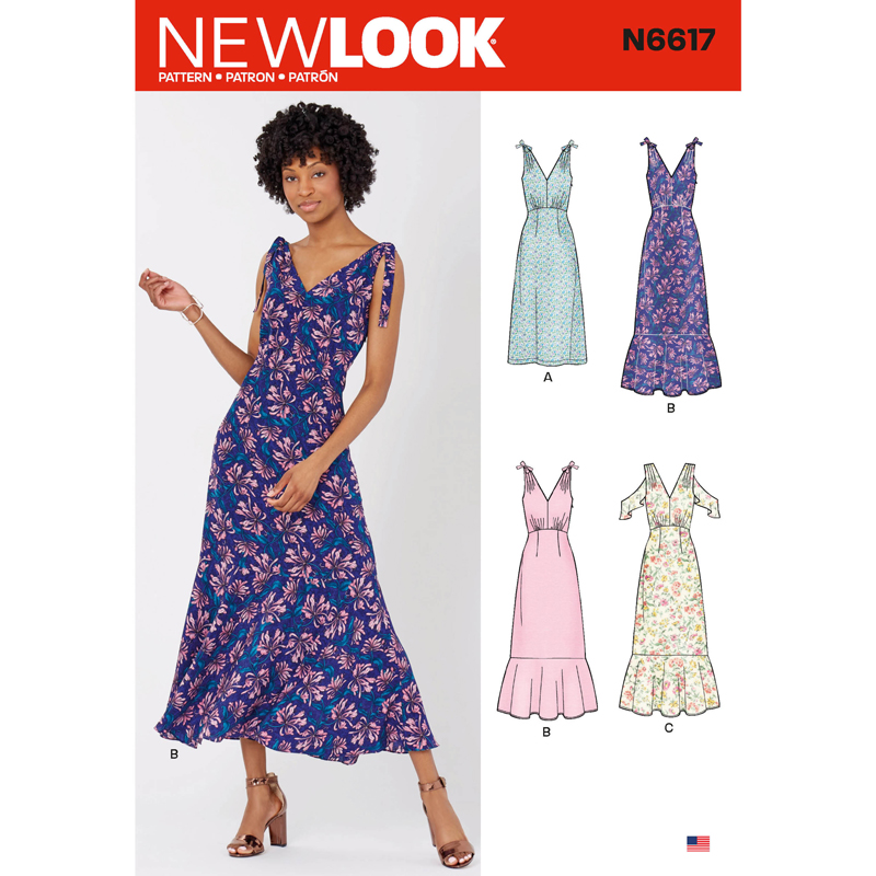 Patron New Look Nl6617 De Robe Longue Taille 38 A 50 Coutureo