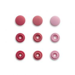 Pressions Color Snaps Mini Prym 9 mm Multi rose, 36 pcs