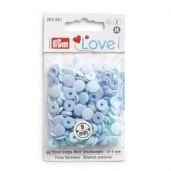 Pressions Color Snaps Mini Prym 9 mm Multi bleu, 36 pcs