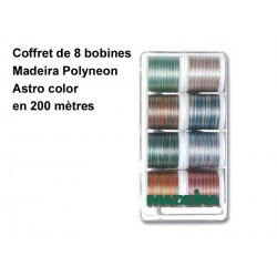 "Fil Maderia Metallic - Coffret ""Astro color"" ass. 8 bobines 200 m"